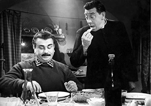 Bild Mangiaspaghetti cod. 34 Beppone e Don Camillo cm 35x50 Druck auf Leinwand Das gemälde ist fertig zum aufhängen Il Negozio di Alex