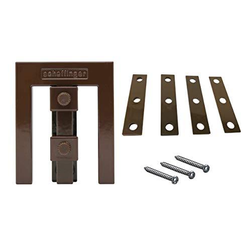 Scheffinger EM3-Zusatzhülse für die kombinierte Sicherung doppelflügeliger Fenster (Sepiabraun)