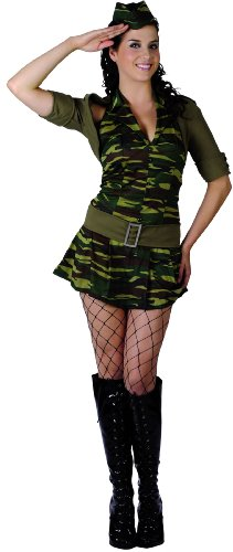 Déguisement militaire femme - Medium
