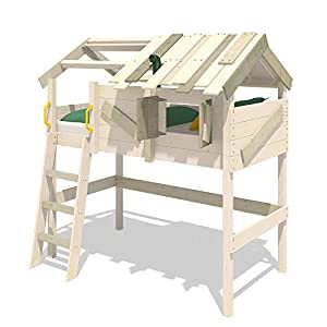 WICKEY Children's loft Bed Crazy Cove bunk Bed with roof and slatted Bed Base