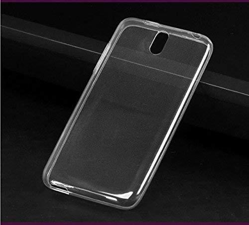 FCS Crystal Case for HTC Desire 526 Soft Flexible TPU Silicone Back Door Protective Cover - Transparent