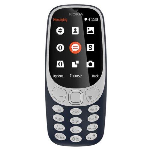 Nokia 362999 3310-Handy (6,09 cm (2,4 Zoll) Display, Dual SIM, MicroSD Speicherkartenleser, 1200 mAh Akku) blau