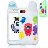 Oqplog Case for iPhone 7/8/6S/6/SE 2020 Cartoon Cute 3D Kawaii Fun Luminous Kids Design Silicone Cover,Cool Funny Fashion Cases for iPhone 7/8/6S/6/SE 2020 4.7' Shell for Us Girls Boys Men Women