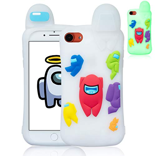 Darrnew Luminous Among Case for iPhone 6/6S/7/8/SE 2020 Cartoon Silicone...
