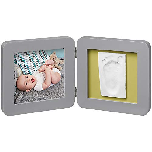 Baby Art Kit de Moulage et d'Empreintes Modern Print Frame Gris
