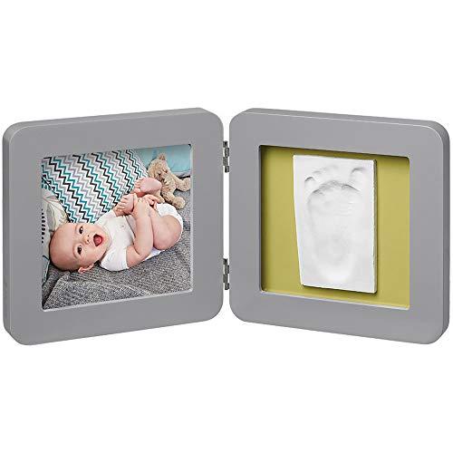 Baby Art My Baby Touch Cornice Singola Portafoto con Kit 1 Impronta per Mano o Piede del Neonato, Regalo Nascita o Bomboniera per Battesimo, Grigio