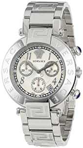Versace Women's Q5C99D498 S099 Reve Chrono Round Stainless Steel Mother-Of-Pearl Dial Watch