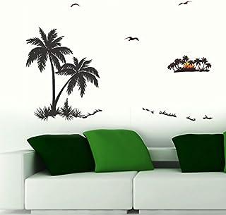 Decals Design 'Palm Trees' Wall Sticker (PVC Vinyl, 70 cm x 50 cm), Multicolour