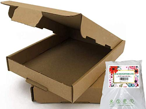 Royal Mail Versandkartons, superstark, C6 / A6 (163 x 112 x 20 mm), Braun, umweltfreundlich, ideal als Geschenk, Weihnachtsschmuck (50 Stück)