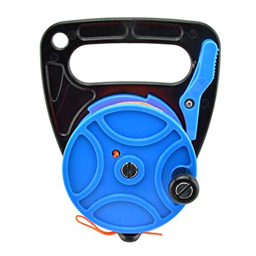 Coherny 150/272FT Diving Reel Spool Finger Line Retractable Reels with Handle Stopper for Snorkeling Underwater Water Sports Gear