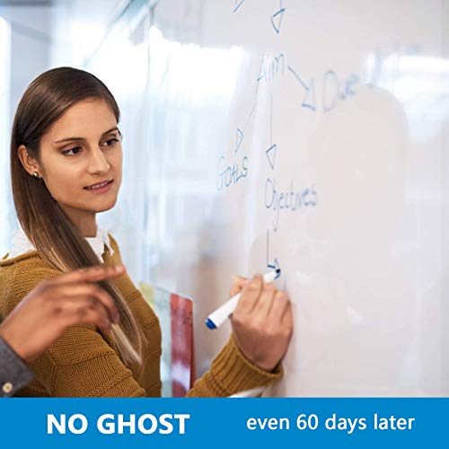 6'x4' Whiteboard Paper, White Board Adhesive Wallpaper, Large Dry Erase Wall Sticker, Dry Erase Paper Roll for Table/Doors, 9 Markers, Super Sticky, No Ghost Photo #3