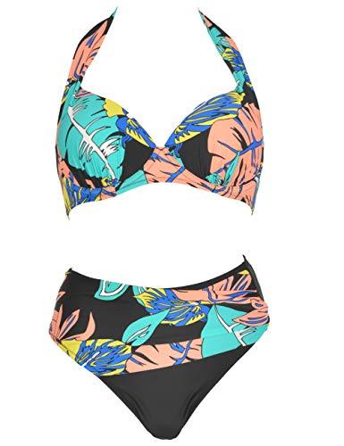 Mermaid - Bikini de Mujer de Copa básica con Escote en Pico...