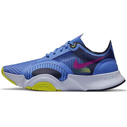 Nike Superrep Go - Scarpa da donna da allenamento Cj0860-500, Zaffiro/Rosso Prugna annerito Blu-cyber, 38 EU