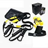 Adult Gym <span class='highlight'>Suspension</span> Resistance Belt Indoor Yoga Training Elastic Pull Rope Rope Muscle <span class='highlight'>Trainer</span> Fitness Equipment Multi-Functional 3 Options For Home Office Gym Business Trip (HOME VERSION)