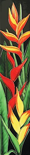 16 x 3 Heliconia Art Tile in Multi by En Vogue