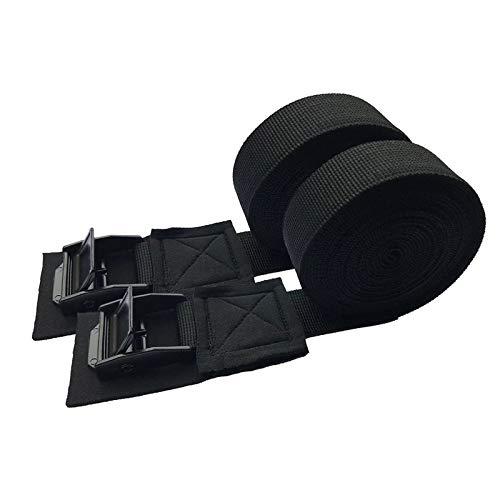 QMMB 2 Unids Robustas Correas De Atadura, Cinturones De Hebilla De Leva Rápida, Cinturones De Amarre Pesados, Correas De Carga De Carga, Duradero Y Antideslizante