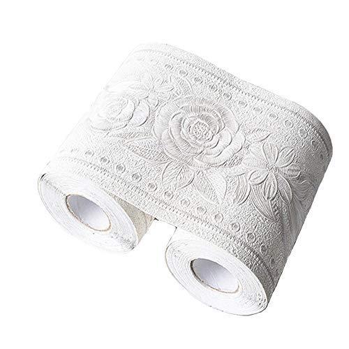 壁紙 トリムボーダー 10cmx5m マスキングテープ 幅広 ボーダーシート 簡単 はがせる 壁紙シール (ホワイト)
