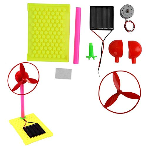 Hztyyier Solar Power Science Kits für Kinder Solar Fan Modellbau Montage Puzzle Spielzeug Early Science Education