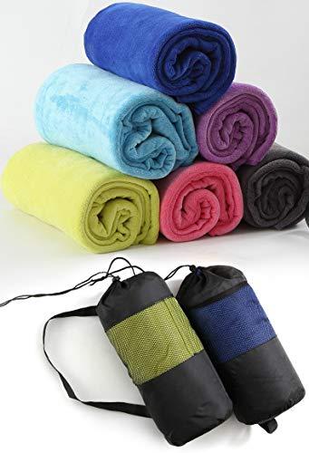 Stafeny 1 toalla deportiva extra larga de microfibra de secado rápido, apta para deportes, gimnasio, correr, viajes, morado, naranja, rojo, gris, verde, azul, 30 x 100 cm
