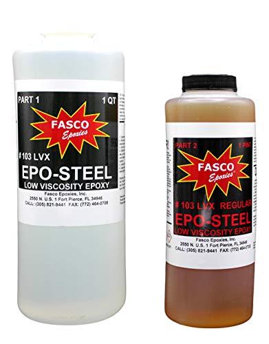 Fasco Epoxies #103LVX 2:1 Marine Grade Epoxy for Fiberglass, Cloth,...