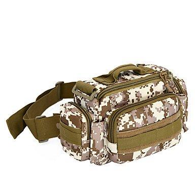 BBYaKi 15 L Sac À Bandoulière Camping & Randonnée Multifonctionnel , Jungle Camouflage