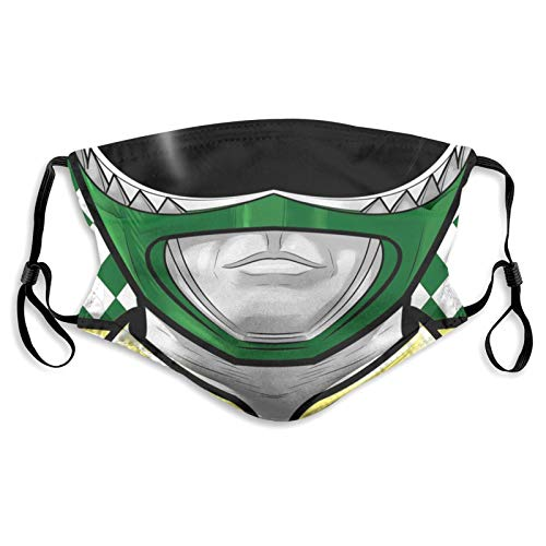 Power-Rangers Face Mask Scarf Adjustable Washable Reusable Face Cover with Filter for Adults and Children Black