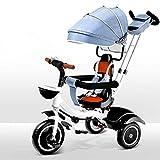 Triciclo Trike Triciclo para bebés - 4 en 1 Triciclo para niños Triciclo para bebés Toldo ajustable Guardray Barandrail Trasero Asiento de revestimiento Ajustable Costato de seguridad ARBIO DE SEGURID