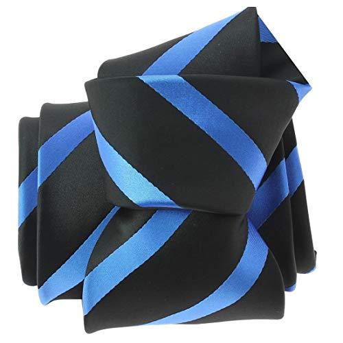 Clj Charles Le Jeune. Cravate. URBANE CLUB, Microfibre. Bleu, Club/rayé.