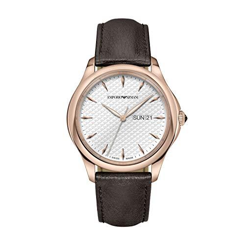Emporio Armani - Reloj de Cuarzo de Cuero para Hombre ARS8607
