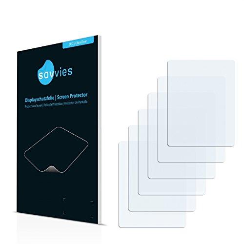 6x Savvies SU75 UltraClear Displayschutz Schutzfolie Zoom Q2HD (Kristallklar, Blasenfreie Montage, Passgenauer Zuschnitt)