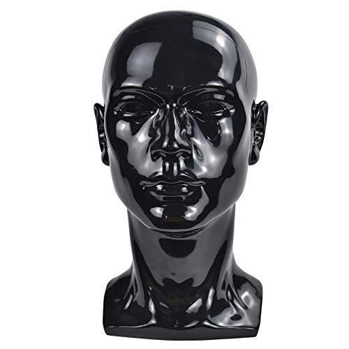 PVC Tête de mannequin masculin avec Oreilles Tête de mannequin lisse Pour Perruque Chapeau Lunettes Casquettes Présentation
