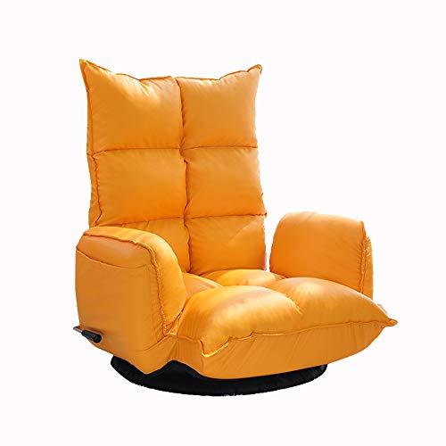 AiHerb.LO JL HX Tatami De Style Japonais Salon Pliant Loisirs Chambre Chaise Paresseux Canapé Unique Jolie Fille Créative Réglage De Rotation 360 ° Levier A+ (Couleur : Le Jaune)