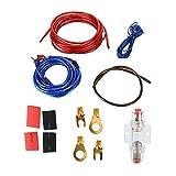 Akozon Kit De Cables De Audio Para El Automóvil Juego De Cables Para Amplificador De Potencia Mantenimiento Reemplazo Para Altavoz De Graves Para Amplificadores De Juegos De Coches Bocinas De Ca