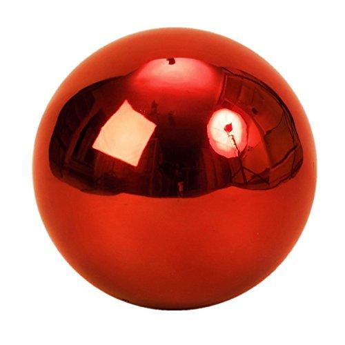Geschenkestadl Dekokugel Rosenkugel ca. Ø 20 cm Gross in Rot aus Edelstahl Kugel Garten Weihnachten