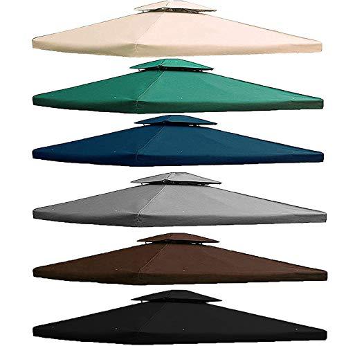 freigarten.de Ersatzdach für Pavillon 3x4 Meter Wasserdicht Material: Panama PCV Soft 370g/m² extra stark Modell 5 (Anthrazit)
