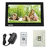 Miracle Digital 10 Inch Digital Photo Frame with Hi-def LCD Screen |Connectivity USB Disk SD Card Mini HDMI| Full Functional Photo Slide Show Video Audio Calendar with Table Top/Wall Mountable Stand