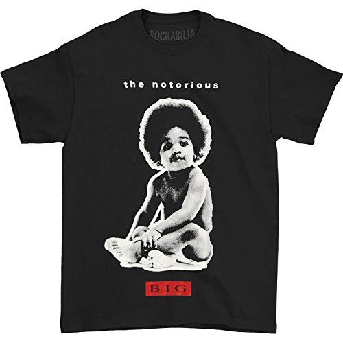The Notorious B.I.G Men's Big Baby T-Shirt, Black, X-Large