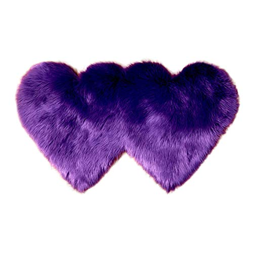 Best Buy! Theoylos Soft Fluffy Rugs Heart Shape Rug Fur Rugs for Bedroom Fuzzy Carpet for Living Roo...