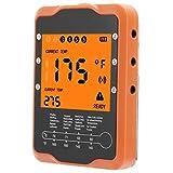 BOTEGRA Termómetro para Alimentos, termómetro Digital 2 sondas Diferentes 16.1x3x1.7cm Suministros de Cocina ABS + Acero Inoxidable para Barbacoa para cocinar en el hogar Restaurante