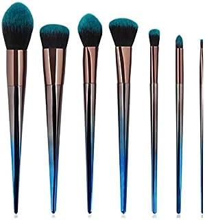 HMR Makeup Brush Set,7Pcs Premium Synthetic Professional Makeup Brushes Foundation Angled Coutour brush Concealer Shader Eyeshadow Face Brushes