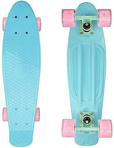 nordmiex Complete 22inches Cruiser Skateboards for Beginners - Kids Skateboard for School and Travel