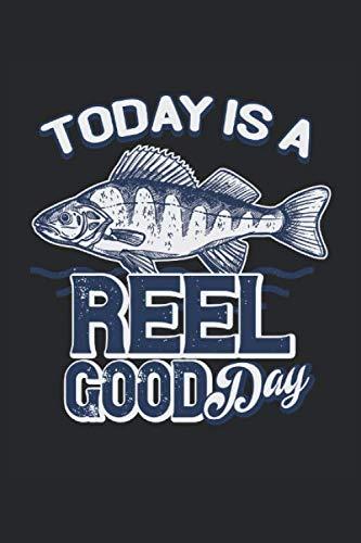 Today is a Reel good Day: Il pescatore dice che i regali di tipografia vintage sono rivestiti in quaderno (formato A5, 15,24 x 22,86 cm, 120 pagine)