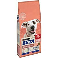 Dry dog food made with salmon. Specifically formulated for dogs with sensitive skin or digestion. No added artificial colours, flavours, or preservatives. Natural prebiotic to help improve digestive health. High in protein to help support strong musc...