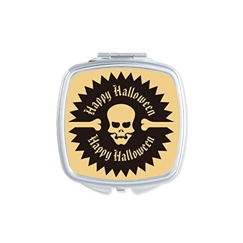 DIYthinker Plaza cráneo Modelo Circular de Halloween Maquillaje Compacto Espejo de Bolsillo Regalo Lindo portátil pequeño Mano Espejos