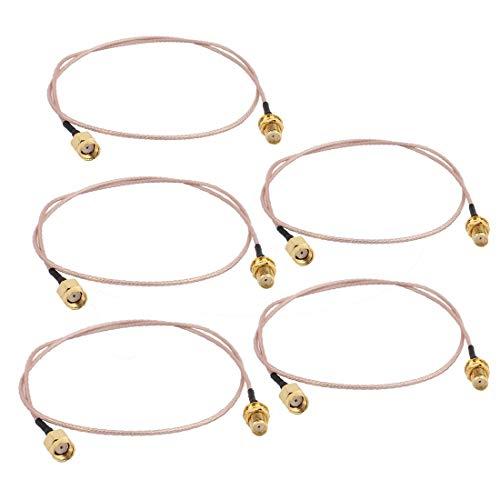 X-Dr 5 Stücke Gold RP-SMA Stecker auf SMA Buchse Adapter Stecker RG178 Koaxialkabel für Satellitenfernsehen 50 cm (1ae846d346d69ed258f9e2f75017f7fe)