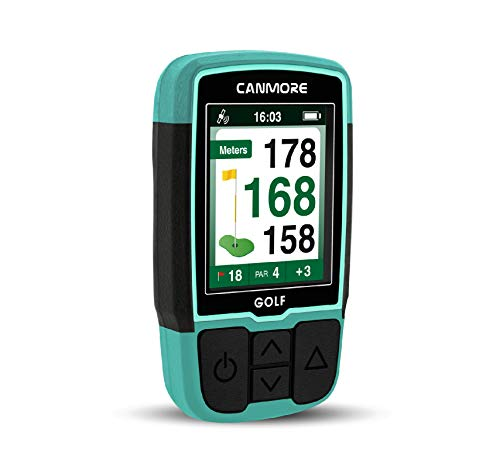 CANMORE Handheld Golf GPS HG200 - Water Resistant Full-Color Display with 38,000+ Essential Golf Course Data and Score Sheet - Free Courses Worldwide and Growing - 1-Year Warranty (Turquoise)