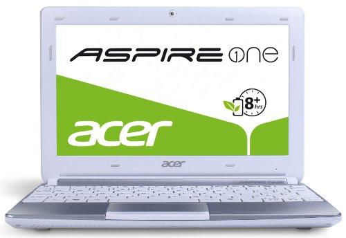 Acer Aspire One D270 25,7 cm (10,1 Zoll, matt) Netbook (Intel Atom N2600, 1,6GHz, 2GB RAM, 320GB HDD, Intel GMA 3600, ohne Betriebssystem) weiß