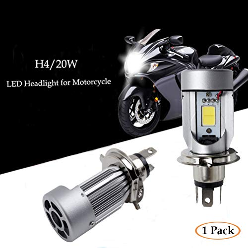 Ralbay H4 20W Hi/Lo COB LED Motor Bike/ciclomotor/Motocicleta/Scooter/ATV Faro Bombilla Coche LED lámpara de Techo Headlight Fog DRL Bulb