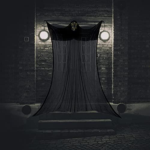 Halcyerdu Fantasma Colgante de Halloween, Fantasma de Decoracin de Puerta De Halloween de 3,3 m, Decoracin de Halloween, con LED Y Sonidos, Carnaval de Fiesta de Halloween