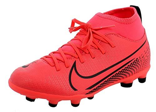 Nike Jr Superfly 7 Club FG/MG, Zapatillas de fútbol, Laser Crimson/Black, 32 EU